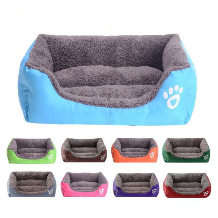 Cute Luxury Soft Colorful Dog Cat Pet Bed Portable Washable Square Beds for Dog