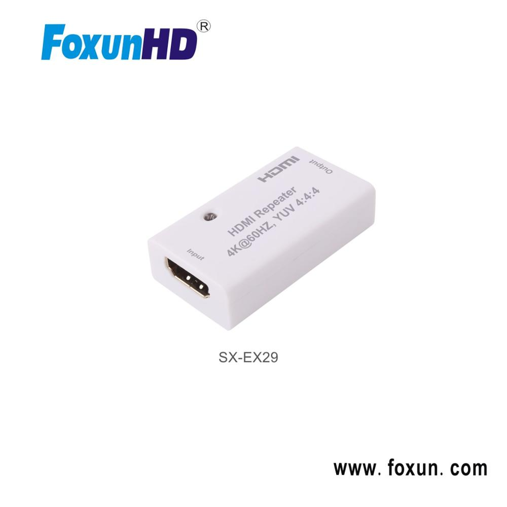 Repeater HDMI 2.0 Bandwidth up to 18 Gpbs, Resolution up to 4Kx2K@60Hz, YUV 4:4:4