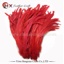 Factory Wholesale Cheap Colored Red Chicken Fully Dyed Roosters Feathers for Sale