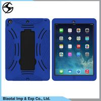 Heavy Duty Silicone and Plastic Shockproof Case for Apple Tablets Compatible Brand for iPad mini 2/3/1 Tablet Stand Case