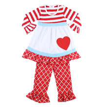 Kaiyo children's clothing long sleeve stripe ruffle dress tamil baby girl names pictures