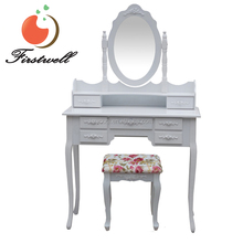 dressing table with stool set vanity set wood home furniture