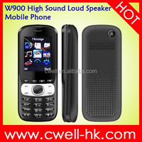 Cute W900 High Sound Loud Speaker Mobile Phone with Dual SIM Card, E-Torch and Good Price
