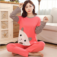 W20706G 2016 new design cute woman pajamas cartoon nightgown for women cotton pajamas