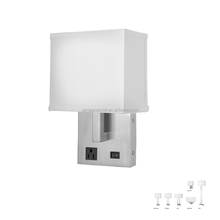 USA Electrical Outlet Switch Usb Lighting Fixtures Hotel Bedroom Decorative Headboard Modern Wall Mounted Led Light Lamp Plug In