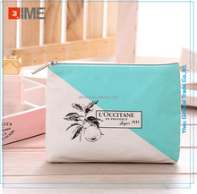 High quality custom clear cotton canvas makeup bag