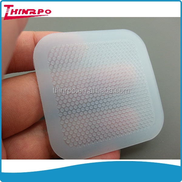 Hot sale heat-resistant chinese products clear blue silicone pad medicare use silicone pads