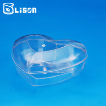 26g Heart Shape Food Grade Clear Plastic PS Snack Box For Candy Storage