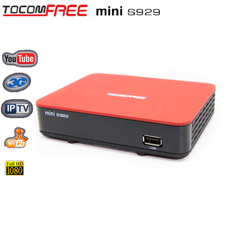 Digital Type azamerica s1001 satellite internet receiver Tocomfree mini S929 DVB-S2 Twin Tuner IKS + SKS+IPTV For South America