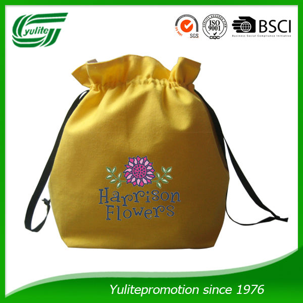 cosmetics cotton drawstring bag for basket