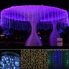 wholesale diwali decoration item 3*3M shower safety sensor christmas fairy lights color changeing curtain led light