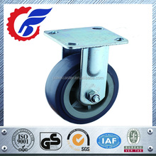 grey rubber fixed wheel caster for heavy duty castor wheel