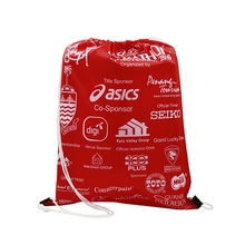 Wholesale Custom New Design Waterproof Foldable polyester drawstring backpack Bag