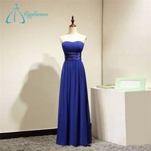 Sweetheart Royal Blue Pleat Real Photo Bridesmaid Dress Online