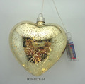 Glass Heart shape led light christmas decorations