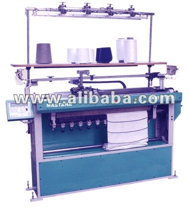 Semi Computerised Sweater Flat Bed Knitting Machine