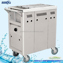 Mobile Stainless Steel Gruel Food Cooking Trolley/Gas Kitchen Food Heated Trolley