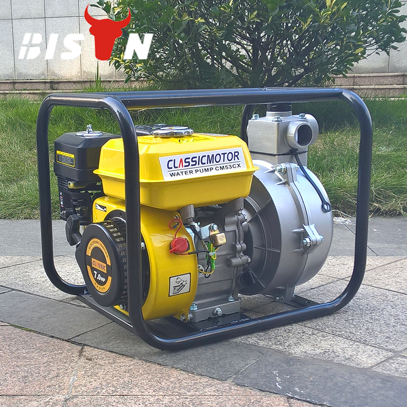 Bison China Zhejiang 2 inches Gasoline Mini High Pressure Petrol Engine Water Pumps For Agriculture Use