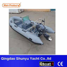 CE certificate 4.7m 8 persons double fiberglass deck rigid inflatable boats for sale
