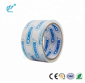 Shipping Packaging Waterproof Carton Sealing Tape BOPP 1.88 Inches x 54.6 Yards Crystal Clear Bopp Tape