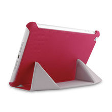 stand stable cover in ball surface PU fabric with newest designed for ipad air