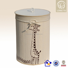 112CANTON FAIR new corner bamboo folding laundry basket/colorful laundry hamper