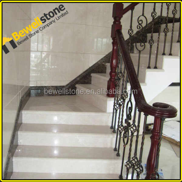 Precut China natural marble stone tile stair nosing