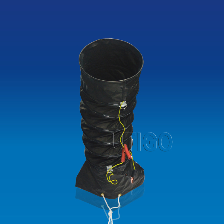 Fire resistant pvc coated polyester fabric flexible duct