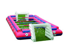 Hot sale inflatable human table football, inflatable footaball field game, inflatable human foosball