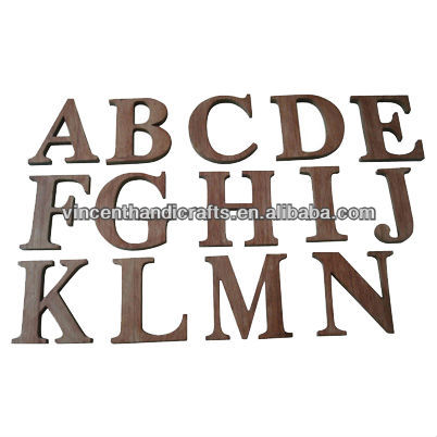 Cheap wooden alphabet English letters for decoration or educational toy