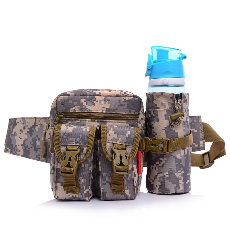 Camouflage color military outdoor sport waist bag for travel and exercising