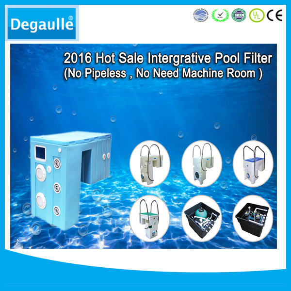 Portable Integrated Wall-hung Pipeless Swimming Pool Filter