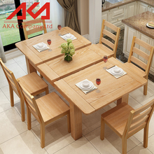 kitchen room solid wood oak butterfly leaf dining tables sets 1800*800*760 mm