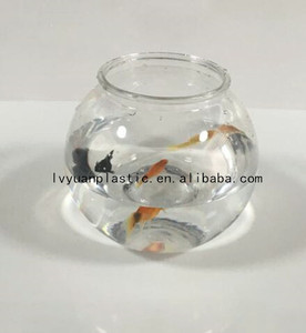 Circular clearTransparent plastic fish tank wholesale, mini plastic fish bowl ,acrylic fish tank