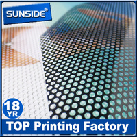 Perforated window film sticker ,one way vision sticker D-0114