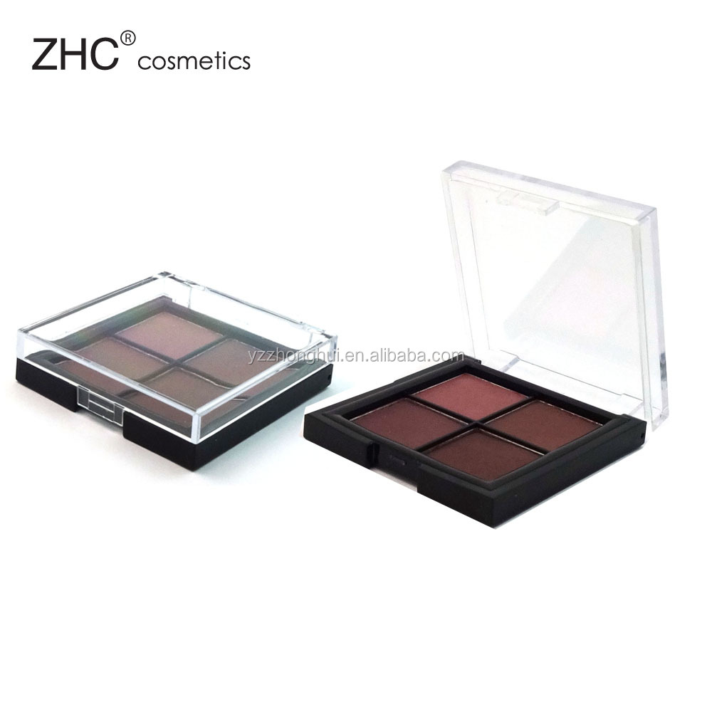 CC4272 Eyeshdow palette with 4colors high pigment eyeshadow free sample eyeshadow packing