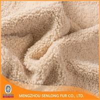 Technical Curly Genuine Sheepskin for Female bag making