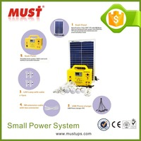 China Factory Provide 18V 20W Mini Home Solar Lighting System Price from Trade Assurance