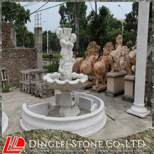 Factory direct marble outdoor statue fountain