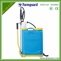 2016 hot sale 16L maual operated sprayer pump Orange PP plastic tank with stainless gun fumigation equipment