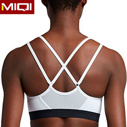 2017 wholesale high quality comfortable fat womens fitness wear strappy mesh sexy sports bras