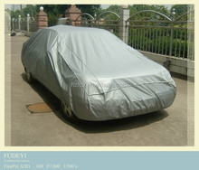 100% polyester taffeta fabric uv resistant car cover with silver coated wholesale