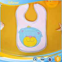 wholesale cheap promotion plain cotton terry baby bibs manufacturer