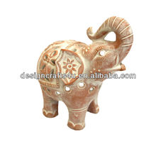 simple and honest elephant terracotta lantern