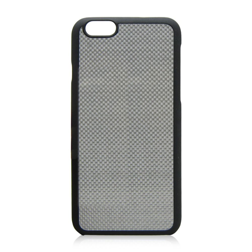 PC bottom cell phone case carbon fiber material phone hull silver color blank back case for iPhone 6