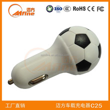 new private model 5v 2a output micro usb car charger,gift of Brazil world cup 2014