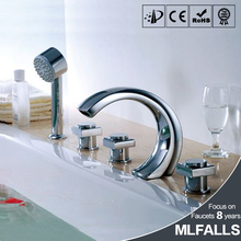 China supplier five holes unique chrome delta bath shower faucets