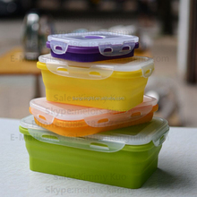 collapsible silicone food container for kids silicone lunch box