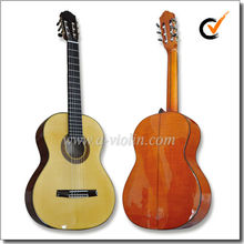 "39"" Solid Flamed Maple Flat Back Spanish Neck Joint Classical Guitar (ACH140)"