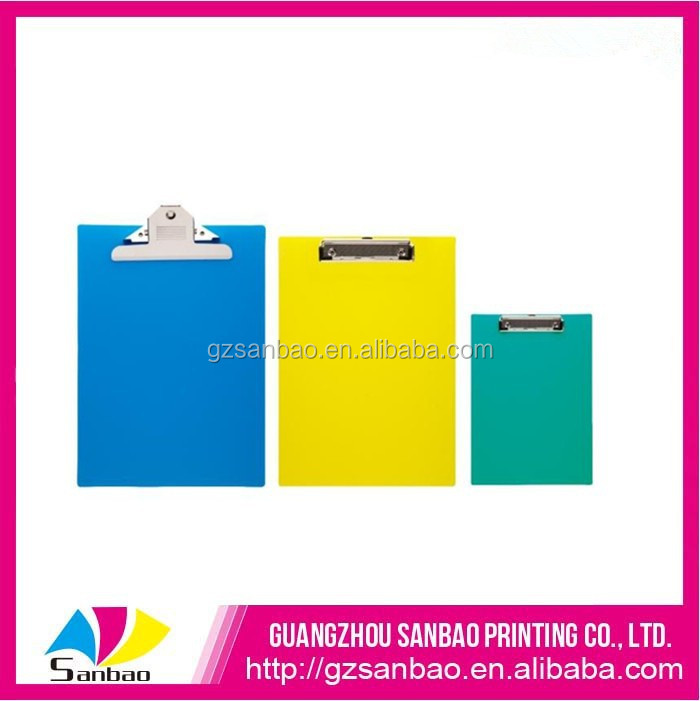 Acetate Tough Pvc Plastic A3 Folding Clipboard Transparent A4 Clipboard With Metal Clip On The Top